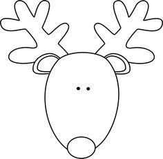 easy reindeer face to draw - Google Search