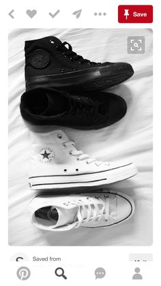 c4cad73e27d9 All white and black pair of converse  Rock tha  black or white or I don t  think so