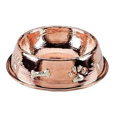 Paws And Bones Copper Pet Bowl So Pretty Abney Will Have These When I