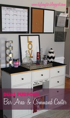 Style Oyster: Command Center / Bar Styling / Organization Wall