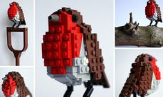 "While birdwatching — er, surfing the web — we spotted these rare and beautiful little LEGO birds assembled by ""Tree Surgeon and Lego Monster"" DeTomaso Pantera over at Colossal. Part of an ongoing series of LEGO recreations of birds found in Britain,… Lego Sculptures, Lego 4, Lego Projects, Science Projects, Lego Brick, Bird Feathers, Eagles, Beautiful Day, Penguins"