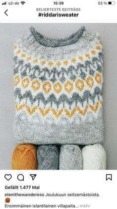 Fair Isle Knitting Patterns, Knitting Projects, Knitwear, Knit Crochet, Diy, Sweaters, Crafts, Clothes, Collection