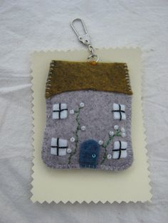 A little cottage keyring by CornwallCalling on Etsy, $11.00