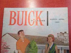 Vintage Buick Magazine March April 1961 by ReuttersGeneralStore, $8.00