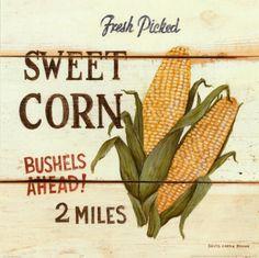 Metaverse Fresh Picked Sweet Corn by David Carter Brown Canvas Art Vintage Posters, Vintage Art, Vintage Food, Vintage Labels, Retro Food, Vintage Tins, French Vintage, Brown Canvas Art, Brown Art
