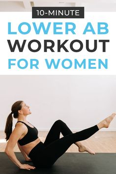 Tone your lower belly pooch with this home workout video - The Best Lower Ab Workout For Women! 10 bodyweight, lower abs exercises to do post-baby Home Workout Videos, Abs Workout Video, Ab Workout At Home, Pilates Workout Youtube, Pilates Abs, Lower Ab Workout For Women, Fitness Workout For Women, Lower Abs, Lower Belly