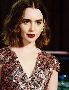 Lily collins. I just. I just want to look like that.