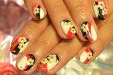 Japanese New Year Nails.Nail Art.| via My Blog☆