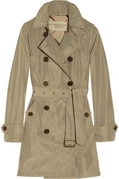 hooded packaway trench coat / burberry brit