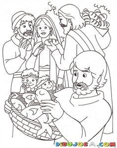 Colorear los peces y los panes de Jesus | COLOREAR BIBLICOS | Dibujo para…