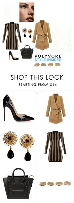 """Untitled#18"" by almamehmedovic-79 ❤ liked on Polyvore featuring Christian Louboutin, Dolce&Gabbana, Balmain and CÉLINE"
