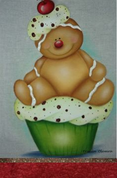 "*GINGERBREAD ~ Pano de prato "" cookie com puff """