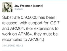 Saurik Releases CydiaSubstrate 0.9.500 With Support For A7 Processor ~ Every Tech Pro