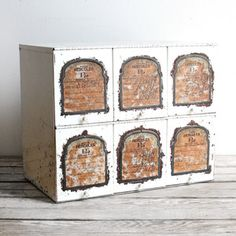 Antique Pharmacy Rx Organizer, now featured on Fab.