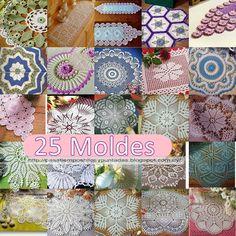 Pasatiempos entre hilos y puntadas: 25 Moldes de carpetas