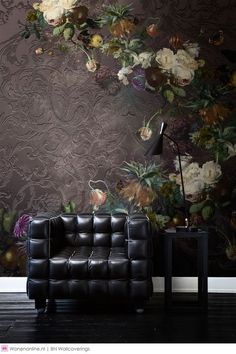 Fotobehang / Digital Wallpaper collection Dutch Masters by Katarina Stupavska - BN Wallcoverings Home Interior Design, Interior And Exterior, Interiores Art Deco, Wallpaper Collection, Ideas Hogar, Dark Interiors, Wall Wallpaper, Home Decor Inspiration, Decoration