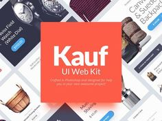 Kauf is a UI Web Kit crafted in Photoshop and designed to help you in your next awesome web project. This pack comes with design elements vector - posted under Freebies by Fribly Editorial Ui Kit, Web Design, Graphic Design, Shops, Freebies, Mobile App Design, Free Logo, Photoshop Design, Psd Templates