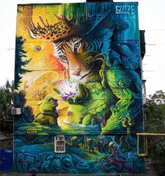 """Street Art by Gooze in Krasnodar Russia"" Graffiti Art, Murals Street Art, 3d Street Art, Urban Graffiti, Urban Street Art, Amazing Street Art, Street Art Graffiti, Mural Art, Fantastic Art"