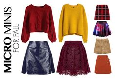 A fashion look from September 2015 featuring red shirt, mustard sweater and pleated mini skirt. Browse and shop related looks. Miu Miu, Minis, Skater Skirt, Topshop, Shoe Bag, Fall, Skirts, Polyvore, Stuff To Buy