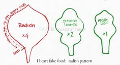 While Wearing Heels: I Heart Fake Food - Felt Radish Tutorial
