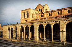 Basilica De San Vicente Early Morning - Joan Carroll   #avila #spain #church #shadows #cathedral #travel #tourism