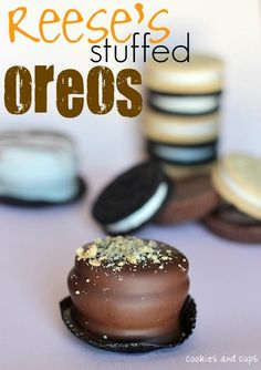 """Oreo+Reeses+oreo+Choclate!   COME ON PEOPLE - is the world not dying fast enough of obese related diseases... - that's a long name above - I vote we call this """"I give up, where's my stretchy pants."""""""