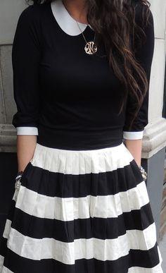 Stripes + Black and White = WIN! // @modestonpurpose
