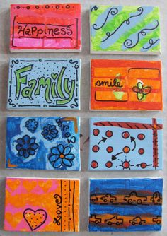 Make art a family affair with this mini-canvas project by @jen Goode