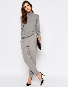 Selected   Selected Trina Masculine Trousers with Rib Cuff at ASOS