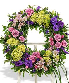 Funeral Flower Wreath, Florist Delivery, Carithers Flowers Atlanta