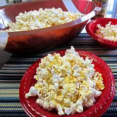 Bacon Parmesan Popcorn  2 Quarts popped popcorn; 3 Tablespoons butter;1 teaspoon bacon salt (found at most grocers); 1/3 cup grated parmesan cheese; Mix bacon salt and parmesan togehter and sprinkle over buttered popcorn; spread out on pan in 250degree oven upper rack for 20 min to dry