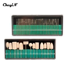 """CkeyiN Nail Salon Tools Nail Drill Bits Set 3/32"""" Shank Size For Manicure Pedicure Machine Accessory Professional Nail File Tool"""