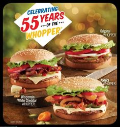 "Angry Whopper (Burger King)  Angry = spicy. Technically a re-release in honor of the Whopper's 55th anniversary  The Best Food Inventions Of The Year  It was a watershed year for innovative ""food products"" all around the world"