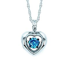 Brilliance in Motion White Gold Dancing Blue Dainty Diamond Heart Pendant Necklace, cttw. Necklaces With Meaning, Heart Pendant Necklace, Diamond Necklaces, Necklace For Girlfriend, Valentines Jewelry, Christian Jewelry, Diamond Heart, Beautiful Necklaces, White Gold