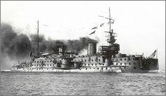 French predreadnought battleship Carnot underway. source
