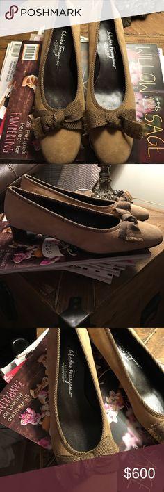 Brand New Salvatore Ferragamo Heels Brand New Salvatore Ferragamo Suede Heels Size 9 Salvatore Ferragamo Shoes Wedges