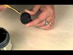 From PolymerClay TV - As the result of a happy accident a new way of doing faux raku was born.