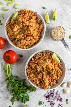This vegan Spanish rice and beans make for an easy & healthy rice cooker meal! #ricecooker #easy #healthy #lazy #spanishrice #onepot #budgetfriendly #oilfree #vegan #spanishmeals