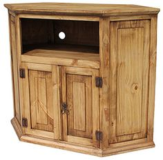 Bring Home This Authentic Mexican Rustic Pine Television Stand And Entertainment Center Southwestern Styled Corner Tv Is Ideal For Those