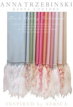 Anna Trzebinski Spring Collection Shawls.