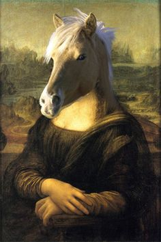Horse Painting,as Mona Lisa