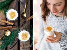 Veganer Eggnog mit Vanille & Zimt