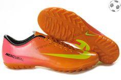 best sneakers 05519 bb02a Chaussures foot Nike Mercurial Vapor IX TF Orange Rose Jaune FT9114