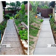 Another before and after hardscape job! #remodel #sandiego #landscape #hardscape #outdoorlife #coast #solar #homeimprovement