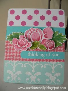 Cards on the Fly: Papertrey April Blog Hop Challenge
