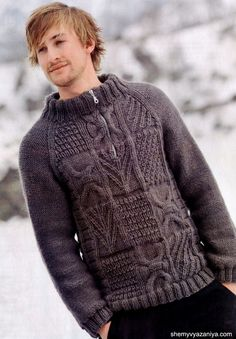 Pullover for Men with a raised Pattern. This free pattern is given in Russian, and I used Google Translate feature to change to English, then downloaded it.