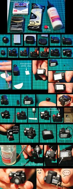 clay Nikon tutorial, make it a bit smaller and it's good for the people who live in my dollshouse.