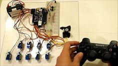 Wireless Servo Control with a PS3 Controller