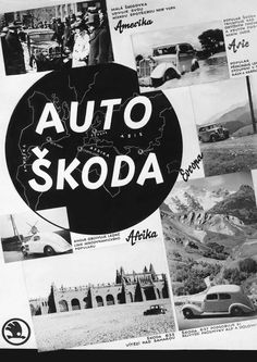 1936 Skoda Auto Ad Vintage Travel Posters, Vintage Ads, Auto Skoda, Car Advertising, Old Signs, European Countries, Car In The World, Czech Republic, Old Cars
