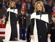 Renee Fleming Vera Wang Super Bowl XLVIII National Anthem Rendition